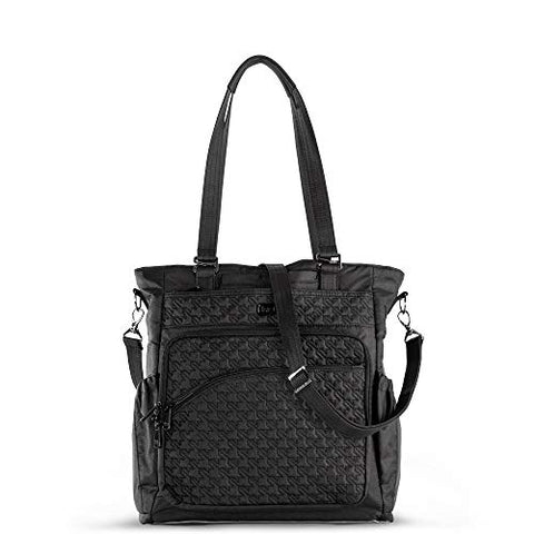 Lug Women's Ace 2 Convertible Travel Tote, Shimmer Black, One Size