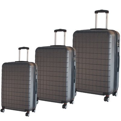Mcbrine Luggage Eco Friendly 3Pc Hardside Luggage Set (Grey)