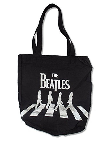 The Beatles Abbey Road Black Tote Bag