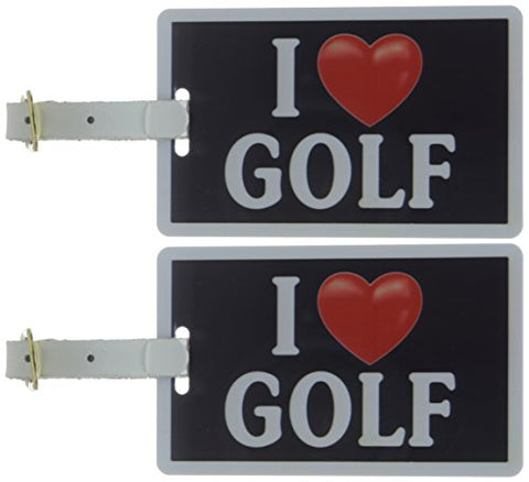 Tag Crazy I Heart Golf Two Pack, Black/White/Red, One Size