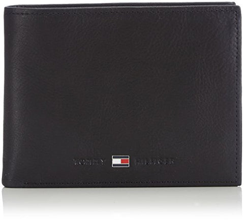 Tommy Hilfiger Unisex - Adults Johnson Cc And Coin Pocket Purse, black, size OS