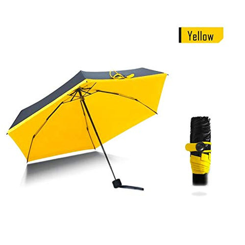 1PC Mini Umbrella Small Yellow Pockets Umbrellas Rain Women Folding Anti-UV Umbrella Kids Sunny and