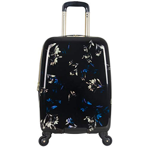 "Aimee Kestenberg Women's Midnight Floral 20"" Hardside Expandable 4-Wheel Spinner Carry-on Luggage"