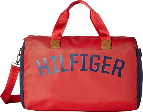 Tommy Hilfiger Men's Zachary Cordura Nylon Duffel Mars Red One Size