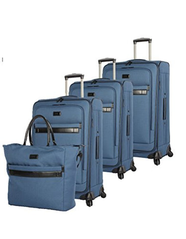 "Nicole Miller New York Coralie Collection 4-Piece Luggage Set: 28"", 24"", 20"" Expandable Spinners"
