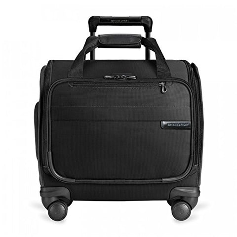Briggs & Riley Baseline-Softside Cabin Spinner Bag, Black, Underseater 16-Inch
