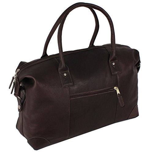 Latico Leathers Denver Duffel Bag, Café, Easy Entry Travel Bag for All Occasions, Adjustable Duffel