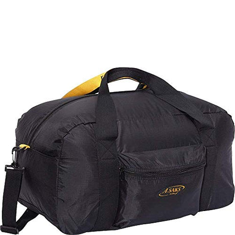 A. Saks 22 InchCarry-On Nylon Duffel Bag With Pouch (Black)