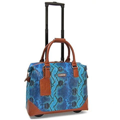 "Cabrelli Bali Reptile 15"" Laptop Bag On Wheels, Blue/Multi"