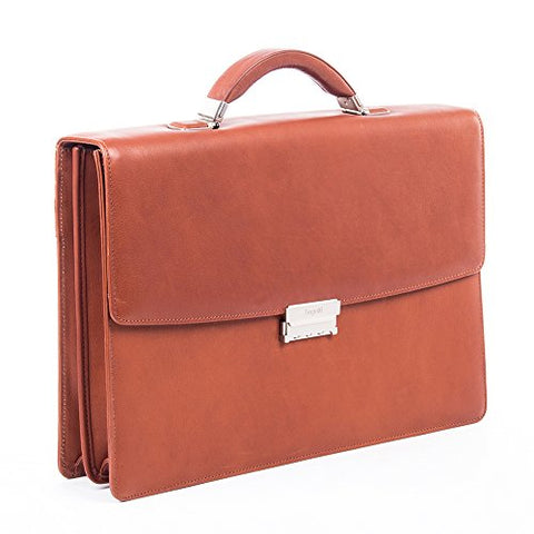 Bugatti Sartoria Large Leather Briefcase, Top Grain Leather, Cognac
