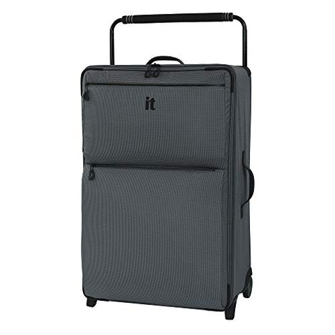 "IT Luggage 32.7"" World's Lightest Los Angeles 2 Wheel, Charcoal Grey"