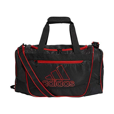 adidas Defender III Duffel Bag, Black/Active Red, Small