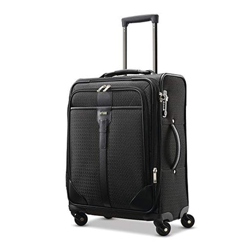 "Hartmann Luxe 20"" Carry On Exp Spinner Luggage Black Jacquard"