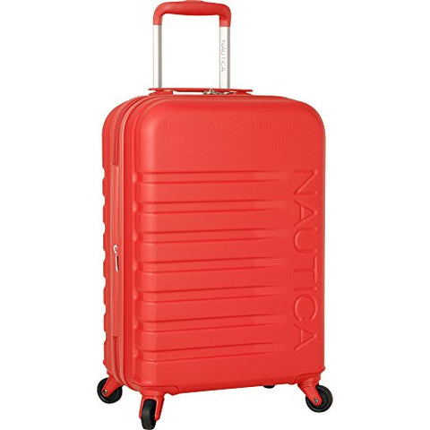 Nautica Henderson Harbor 20 Inch Hardside Expandable Suitcase, Cherry Red