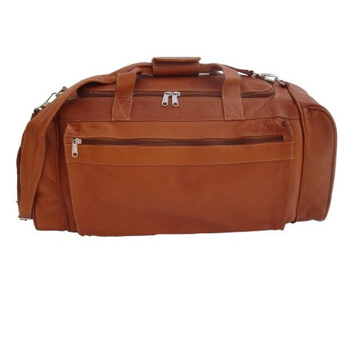 Piel Leather Luggage Large Duffel Bag, Saddle