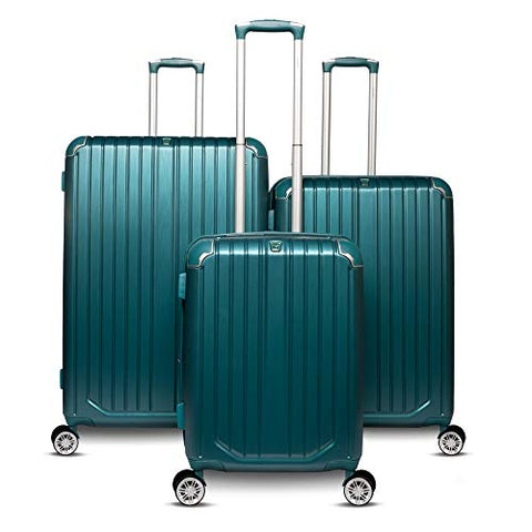 The Gabrielle Collection 3 Piece Hardside Spinner Luggage Set (Green)