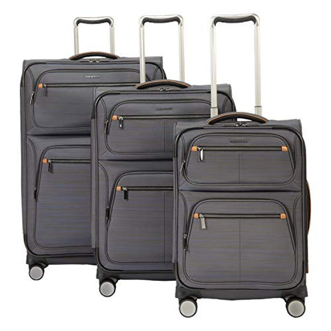 Ricardo Montecito 3-Piece Softside Luggage Set Grey with FREE Travel Kit
