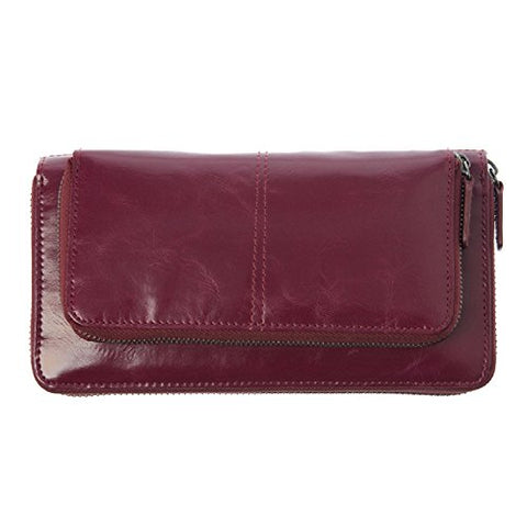 Shiraleah Harper Zip Wallet, Berry