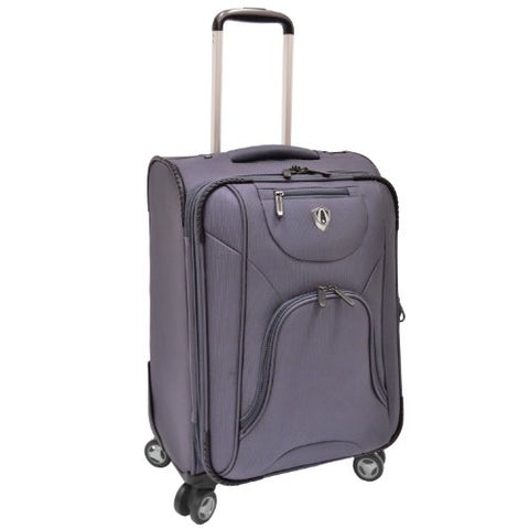 Traveler'S Choice Cornwall Lightweight Expandable Spinner Luggage - Charcoal (26-Inch)