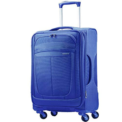 "American Tourister Spinner Delite 3 Carry On Suitcase - 21"", Blue"