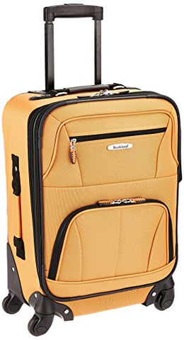 Rockland Luggage 19 Inch Expandable Spinner Carry On, Orange, One Size