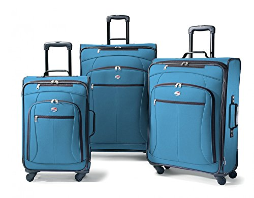 American Tourister At Pops Plus 3 Piece Nested Set, Morrocan Blue