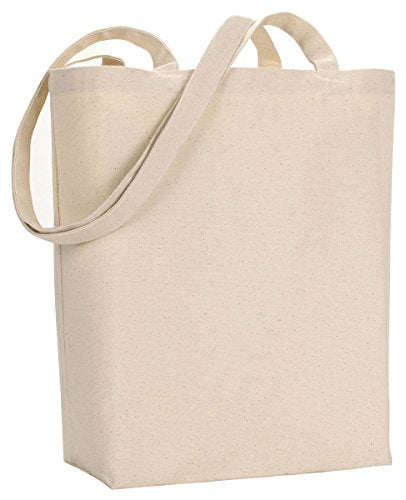 Ultraclub 8866 Jumbo Tote Bag With Gusset - Natural