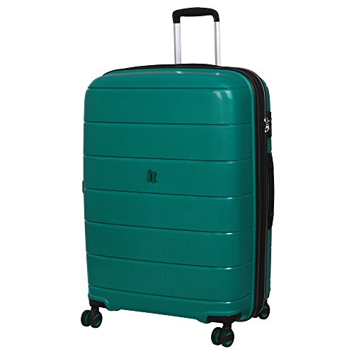 "It Luggage 29.5"" Asteroid 8-Wheel Hardside Expandable Spinner, Pine Green"