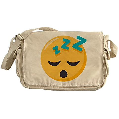 Cafepress - Sleeping Emoji - Unique Messenger Bag, Canvas Courier Bag