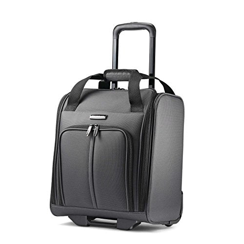 Samsonite Leverage Lte Underseat Carry On Boarding Bag With Wheels, Charcoal