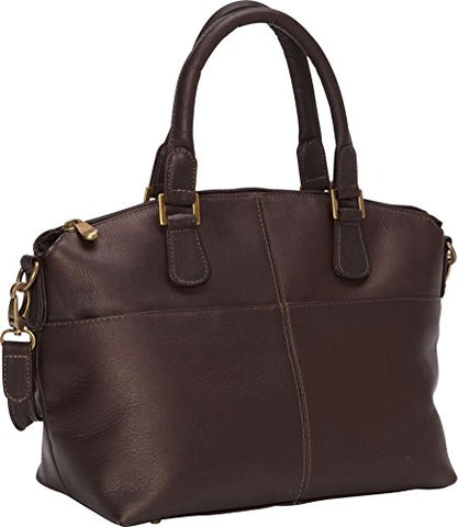 Ledonne Women'S Leather Esperanto Satchel, Cafe, Medium