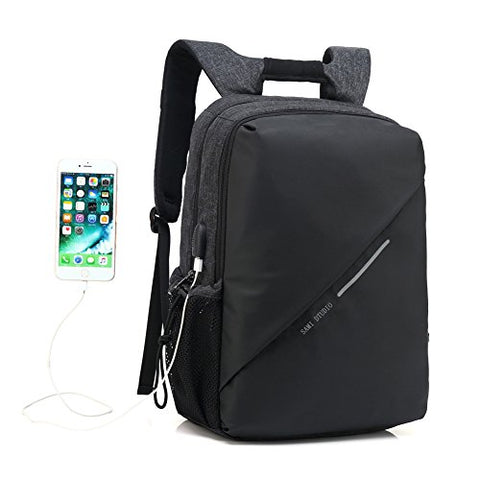 Sami Studio Laptop Backpack Business Computer Bag With Usb Charging Port Fits 15 15.6 Inch Laptop /
