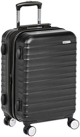 Amazonbasics Premium Hardside Spinner Luggage With Built-In Tsa Lock - 20-Inch Carry-On, Black