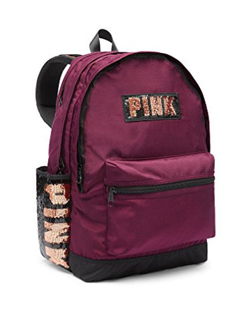 Victoria'S Secret Pink Bling Campus Backpack, Deep Ruby