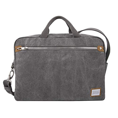 Travelon Anti-Theft Heritage Messenger Briefcase, Pewter