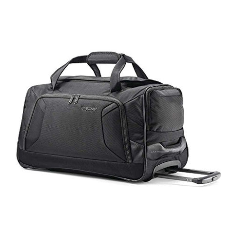 American Tourister 22 Whld Duffle Rolling Duffel, Black, One Size