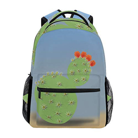 Backpack Cactus Flower Womens Laptop Backpacks Hiking Bag Travel Daypack
