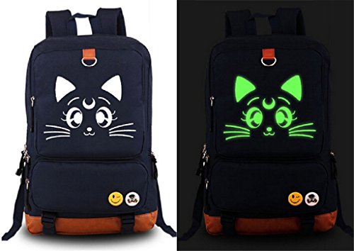 Siawasey Sailor Moon Anime Cartoon Laptop Daypack Backpack Shoulder School Bag