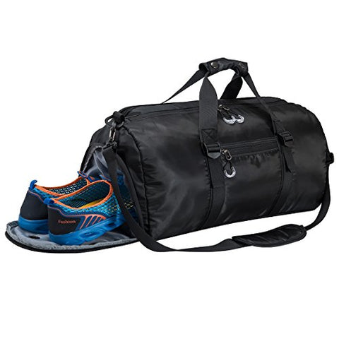 Gym Sports Duffel Bag With Shoes Compartment And Waterproof Pouch Travel Duffel Bag Weekend Bag For
