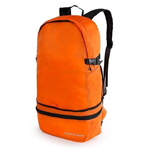 Crossgear Multipurpose Backpack/Waist Bag 2-In-1 Travel Backpack Packable Hiking Daypack CR-0908OG