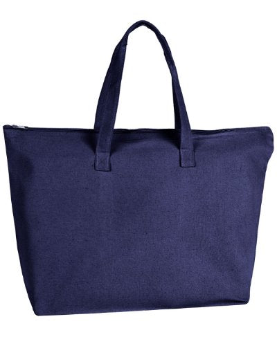 Ultraclub 8863 Zippered Tote Bag With Gusset - Natural