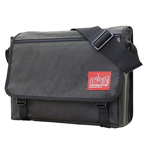 Manhattan Portage Waxed Canvas Europa Messenger Bag (3.5 X 15 X 11.5 Inches, Olive)