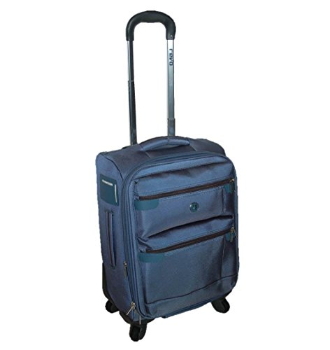 Revo 19-Inch Logic Lightweight Expandable Upright Spinner Carry-On, Blue