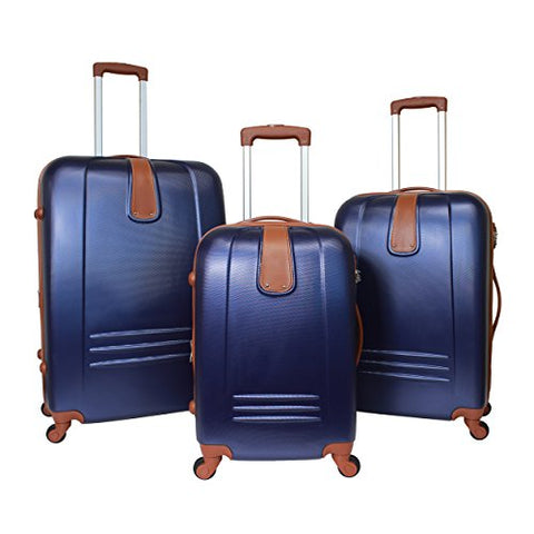 World Traveler Classic Journey 3-Piece Hardside Spinner Luggage Set, Navy