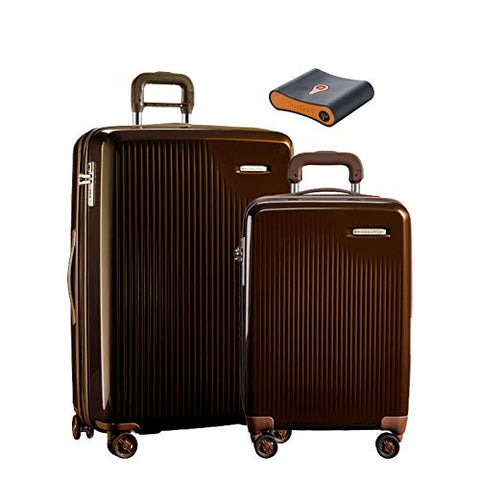 Briggs & Riley Sympatico 3-Pc Set: Intl C/O, Large Spinner, Portmantos Tracking Device (Bronze)