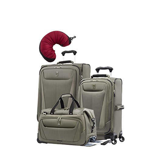 "Travelpro Maxlite 5 | 4-Pc Set | Soft Tote, 21"" Carry-On & 25"" Exp. Spinners With Travel Pillow"