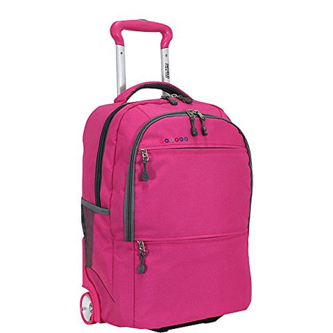 J World New York Walkway Rolling Backpack, Pink