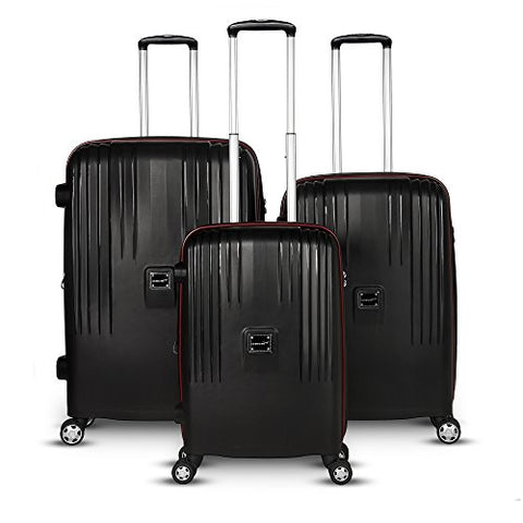 Gabbiano Gallo Collection 3 Piece Hardside Spinner Set (Black)