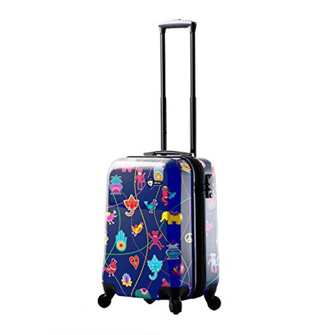 "Mia Toro M1306-20in-blu Italy Mistico Hardside Spinner Luggage 20"" Carry-on, Blue"