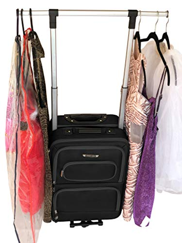 The Dance Angel Suitcase Black Carry-On (Rolling Dance Bag With Costume Rack)